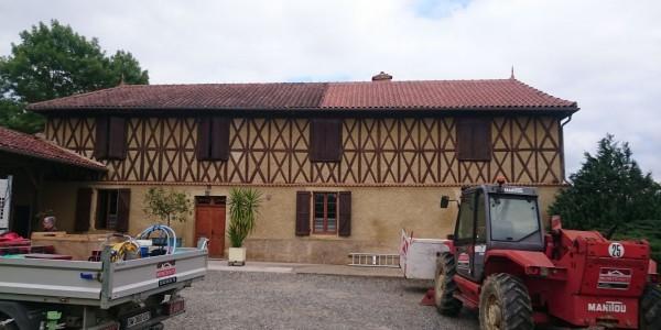 Nettoyage de toiture – maison gersoise ancienne