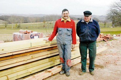 Claude Montégut, le père et Thierry Montégut, son fils (1990)